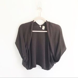 Anthropologie Moth Charcoal Gray Shrug Sweater